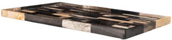 Casa Padrino Luxury Tray Multicolor 40 x 25 x H. 2 cm - Serving Tray made of Petrified Wood