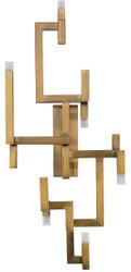 Casa Padrino Luxury Living Room Stainless Steel LED Wall Lamp Gold 30.5 x 28.5 x H. 73.5 cm - Designer Wall Light