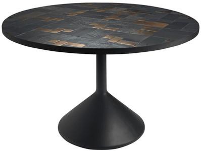 Casa padrino tavolo da pranzo di lusso multicolore nero Ø x