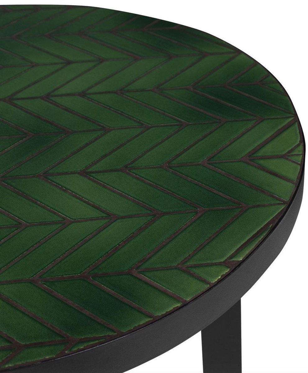 - Casa Padrino Luxury Coffee Table Green / Black Ø 50 X H. 45 Cm