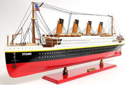 Casa Padrino Luxury Passenger Ship Titanic Multicolor 81.3 x 11 x H. 32 cm - Handmade Wooden Deco Ship