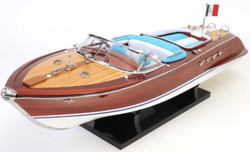 Casa Padrino Luxury Mahogany Wood Speed ​​Boat Riva Aquarama Brown / Multicolor 67.3 x 20.3 x H. 22.9 cm - Handmade Deco Boat