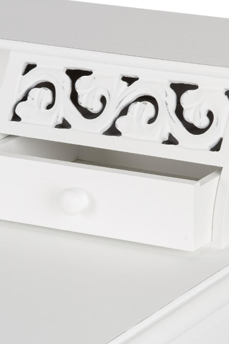 casa padrino landhausstil sekret r antik wei 95 x 45 x h 87 cm landhausstil m bel im shabby. Black Bedroom Furniture Sets. Home Design Ideas