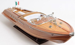 Casa Padrino Luxury Wood Speed ​​Boat Riva Aquarama Brown / Multicolor 88.9 x 22.9 x H 25.4 cm - Handmade Deco Model Boat