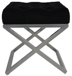 Casa Padrino Luxury Stool / Cross Stool 45 x 45 x H. 47 cm - Various Colors - Chesterfield Stool