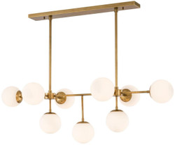 Casa Padrino luxury chandelier antique brass / white 130 x 60 x H. 40 cm - Luxury Furniture