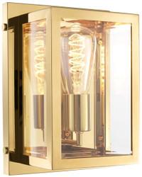 Casa Padrino Luxus Wandleuchte Gold 20 x 13 x H. 28 cm - Hotel & Restaurant Leuchte