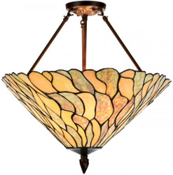 Casa Padrino Luxury Tiffany Ceiling Lamp Multicolor Ø 50 x H. 55 cm - Luxury Ceiling Light made of Glass Mosaic Pieces