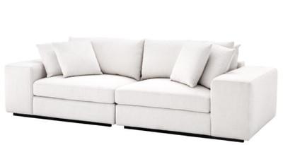 Charmant Casa Padrino Luxus Wohnzimmer Sofa Weiß / Schwarz 280 X 120 X H. 90 Cm   Luxus  Möbel