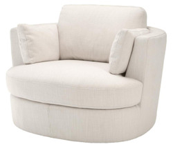 Casa Padrino Luxury Armchair / Swivel Armchair White 110 x 100 x H. 70 cm - Living Room Furniture