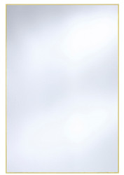 Casa Padrino wall mirror with matt gold aluminum frame 80 x H. 120 cm - Luxury Mirror