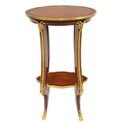 Casa Padrino Barock Luxus Beistelltisch Mahagoni / Gold H 78 x 44 cm - Beistell Tisch Möbel Louis XIV