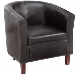 Casa Padrino Imitation Leather Living Room Armchair dark brown 74 x 70 x H.74 cm - Designer living room furniture