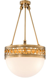 Casa Padrino luxury chandelier antique brass / white Ø 36 x H. 67.5 cm - Luxury Quality