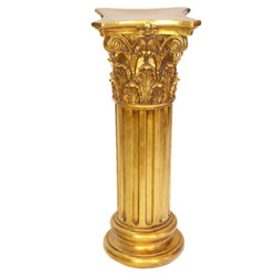 Casa Padrino Baroque Columns Set Gold diameter 50 cm (2 pcs)