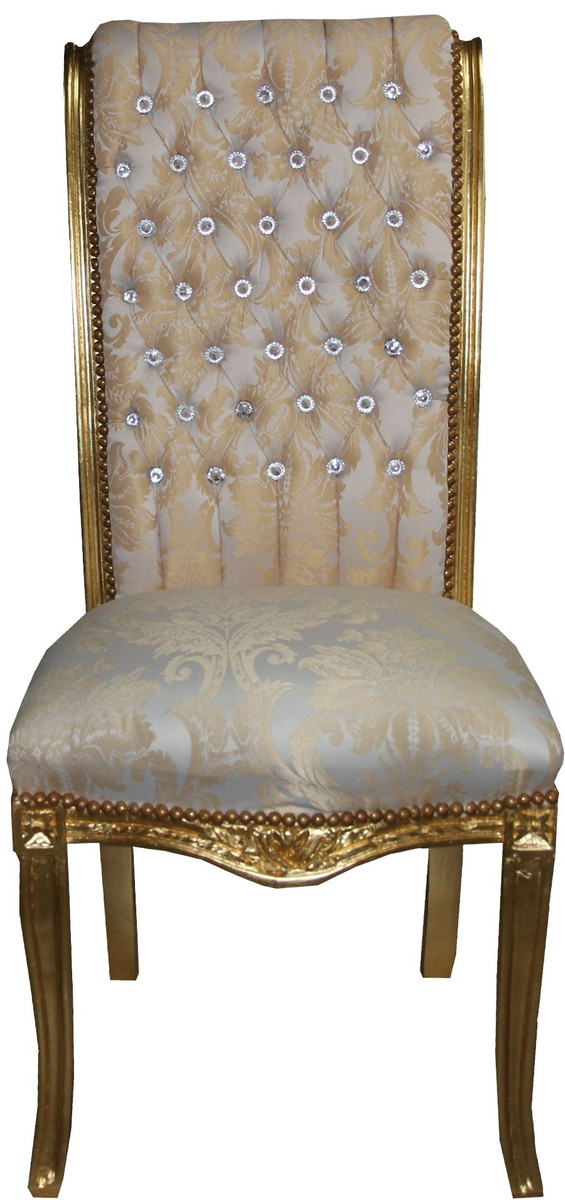 Casa Padrino barroco de respaldo alto comedor crema silla - alta muebles  sillón muebles barrocos