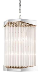 Casa Padrino Luxus Acryl Wohnzimmer Kronleuchter Silber 33 x 28,5 x H. 61 cm - Wohnzimmermöbel
