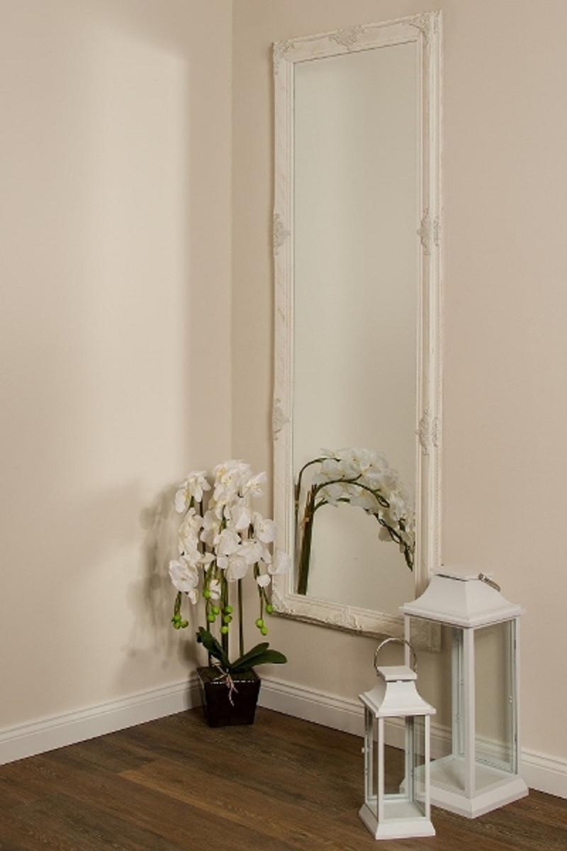 casa padrino barock wandspiegel wei gold 65 x h 190 cm handgefertigter barock spiegel mit. Black Bedroom Furniture Sets. Home Design Ideas