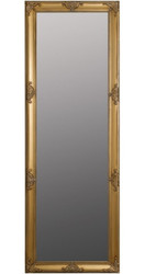 Casa Padrino Baroque Wall Mirror Gold 65 x H. 190 cm - Handcrafted Baroque Mirror with Wooden Frame and Beautiful Decorations