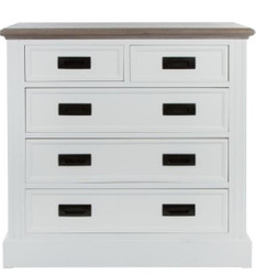Casa Padrino country style chest of drawers with 5 drawers white / gray 85 x 40 x H. 86 cm - Country Style Furniture