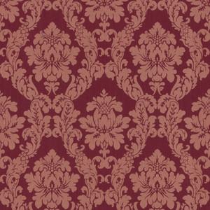 Casa Padrino Barock Viscose Textiltapete / Stofftapete Rot - 10,05 x 0,53 m - Tapete im Barockstil