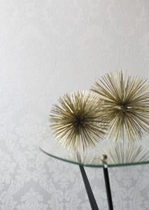 Casa Padrino Barock Viscose Textiltapete / Stofftapete Weiß - 10,05 x 0,53 m - Tapete im Barockstil – Bild 2