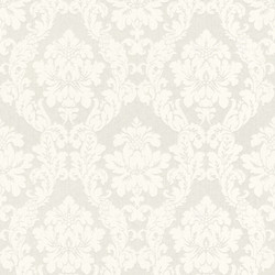 Casa Padrino Baroque Viscose Textile Wallpaper / Fabric Wallpaper White - 10.05 x 0.53 m - Baroque Wallpaper
