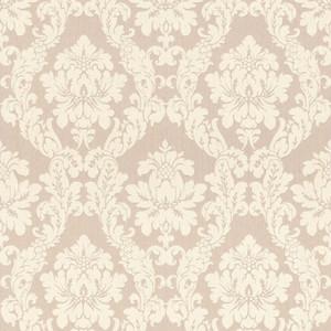 Casa Padrino Barock Viscose Textiltapete Beige / Creme - 10,05 x 0,53 m - Stofftapete im Barockstil