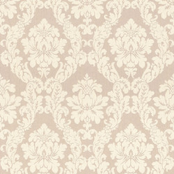 Casa Padrino Baroque Viscose Textile Wallpaper Beige / Cream - 10.05 x 0.53 m - Baroque Fabric Wallpaper