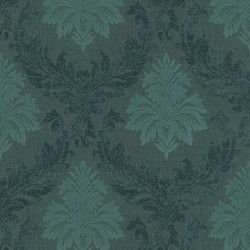 Casa Padrino Baroque Textile Wallpaper / Fabric Wallpaper Green - 10.05 x 0.53 m - Wallpaper with Fleece Structure