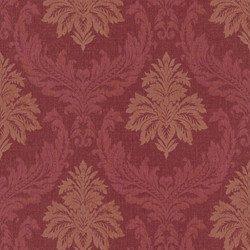 Casa Padrino Baroque Textile Wallpaper / Fabric Wallpaper Red - 10.05 x 0.53 m - Wallpaper with Fleece Structure