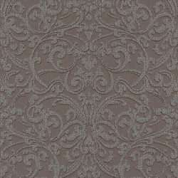 Casa Padrino Baroque Textile Wallpaper Brown / Silver - 10.05 x 0.53 m - Fabric Wallpaper with Textured Surface