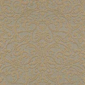 Casa Padrino Barock Textiltapete Braun / Gold - 10,05 x 0,53 m - Stofftapete mit strukturierter Oberfläche