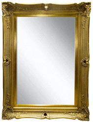 Casa Padrino Baroque Mirror Gold 91 x H. 120 cm - Magnificent Wall Mirror with Wooden Frame and Beautiful Decorations