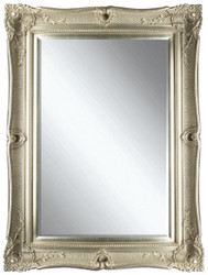 Casa Padrino Baroque Mirror Silver 91 x H. 120 cm - Magnificent Wall Mirror with Wooden Frame and Beautiful Decorations