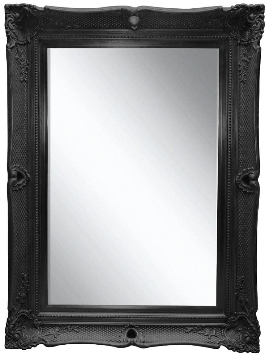 Casa padrino barock spiegel schwarz 91 x h 120 cm - Barock spiegel schwarz ...