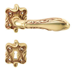 Casa Padrino Art Nouveau door handle set french gold 14.8 x H. 6.8 cm - Baroque & Art Nouveau Door Handles
