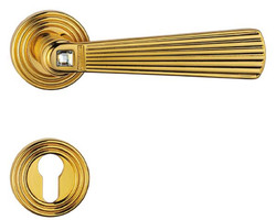 Casa Padrino Luxury Door Handle Set with Swarovski Crystal Glass Gold 16 x H. 5.4 cm - Door Handles in the Aristocratic Style