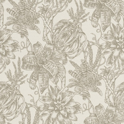 Casa Padrino luxury paper wallpaper matt cream / silver - 10.05 x 0.53 m - Wallpaper with Flowers Design