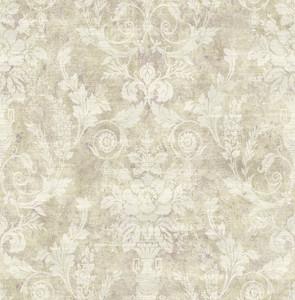 Casa Padrino Barock Papiertapete Beige / Creme - 10,00 x 0,52 m - Edle Mustertapete im Barockstil