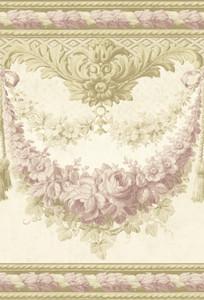 Casa Padrino Barock Papiertapete Beige / Gold / Rosa - 5,00 x 0,61 m - Prunkvolle Mustertapete mit Blumen Design und wunderschönen Verzierungen