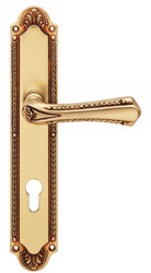 Casa Padrino Art Nouveau Door Handles French Gold 14.6 x H 27.5 cm - Brass Door Handle Set in Art Nouveau Style