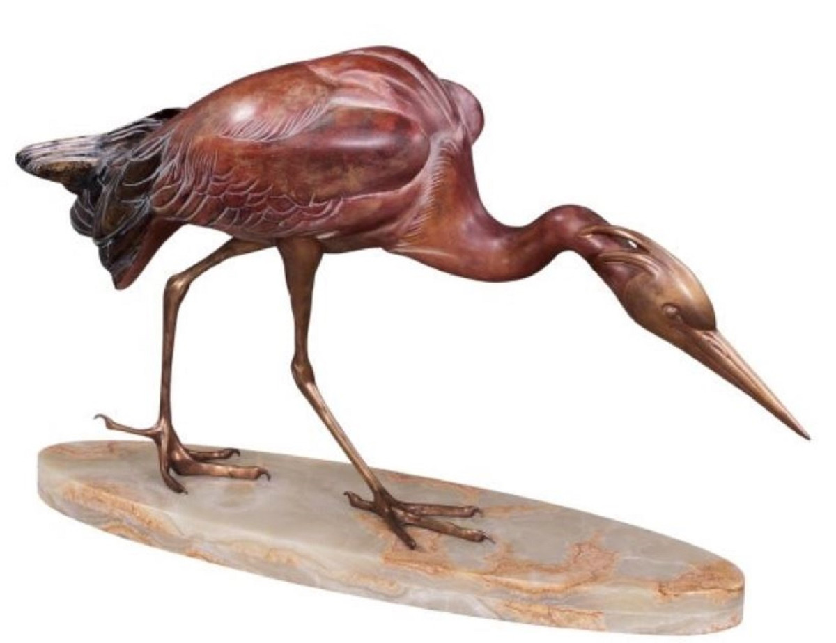 Astounding Casa Padrino Luxury Bronze Figure Heron Multicolor 78 X 21 X H 45 Cm Luxury Bronze Sculpture On Marble Base Complete Home Design Collection Barbaintelli Responsecom