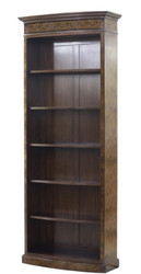Casa Padrino Luxury Baroque Bookcase Brown / Dark Brown 88 x 34 x H. 222 cm - Luxury Baroque Style Bookcase