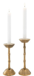 Casa Padrino Luxury Candle Holder Set Vintage Brass - Hotel & Restaurant Decoration Accessories