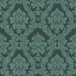 Casa Padrino Baroque Textile Wallpaper Green - 10.05 x 0.53 m - Fabric Wallpaper in Baroque Style