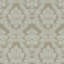 Casa Padrino Baroque Textile Wallpaper Beige / Cream / Gray / Silver - 10.05 x 0.53 m - Fabric Wallpaper in Baroque Style