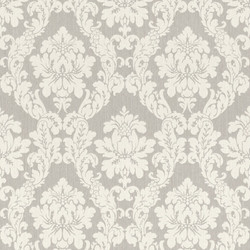 Casa Padrino Baroque Textile Wallpaper White / Beige / Cream / Gray / Silver - 10.05 x 0.53 m - Fabric Wallpaper in Baroque Style