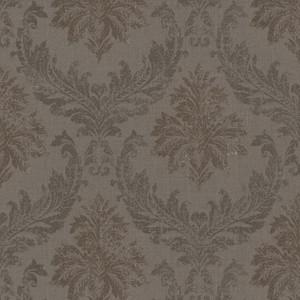 Casa Padrino Barock Textiltapete / Stofftapete Braun - 10,05 x 0,53 m - Tapete mit Vlies Struktur
