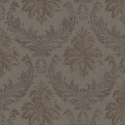 Casa Padrino Baroque Textile Wallpaper / Fabric Wallpaper Brown - 10.05 x 0.53 m - Wallpaper with Fleece Structure